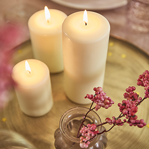 dripless pillar candle