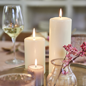 unscented pillar candle white