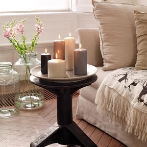 house white pillar candles