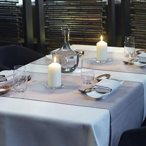 white candles for restaurants