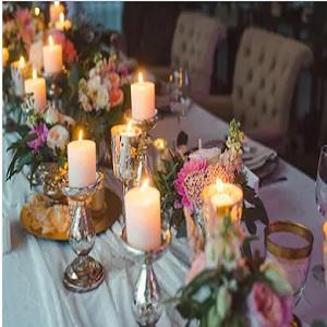 wedding decoration white candles