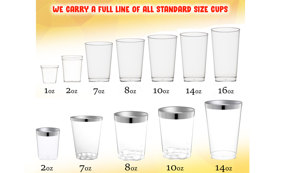 40, Clear We Party Shot Glasses