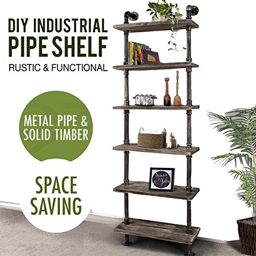 Beautiful Amazon.com: Diwhy Industrial Rustic Modern Wood Ladder Pipe Wall  JR85