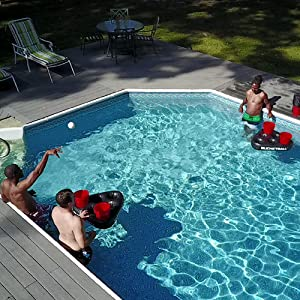 Play BucketBall in the Pool