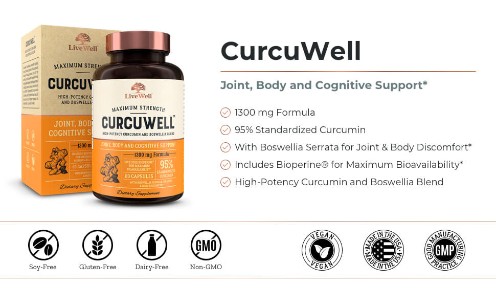 CurcuWell Joint, Body and Cognitive Support