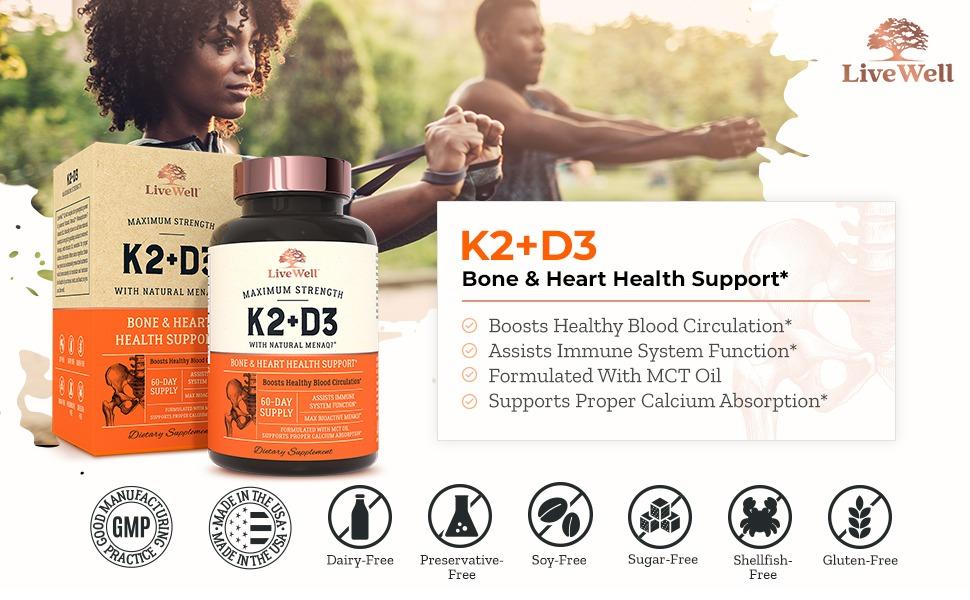 K2+D3 bone & heart health support
