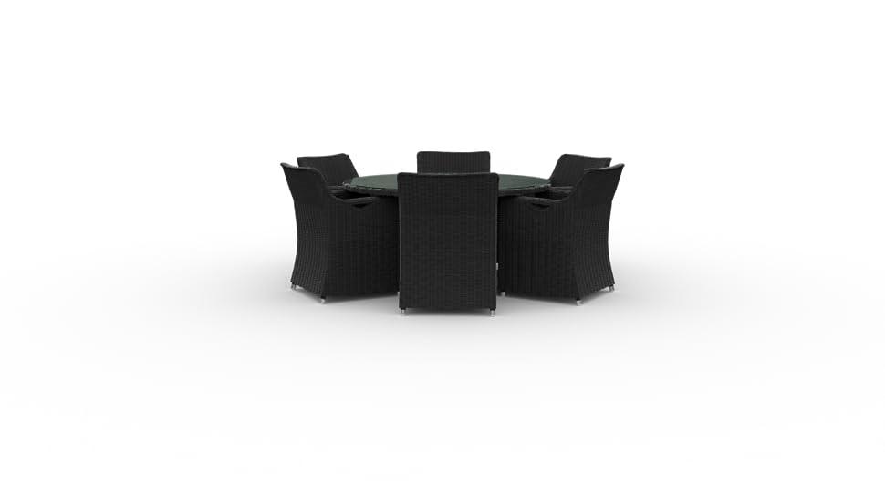 Amazon.com: Marbella Ronda mesa con sillas de comedor para ...