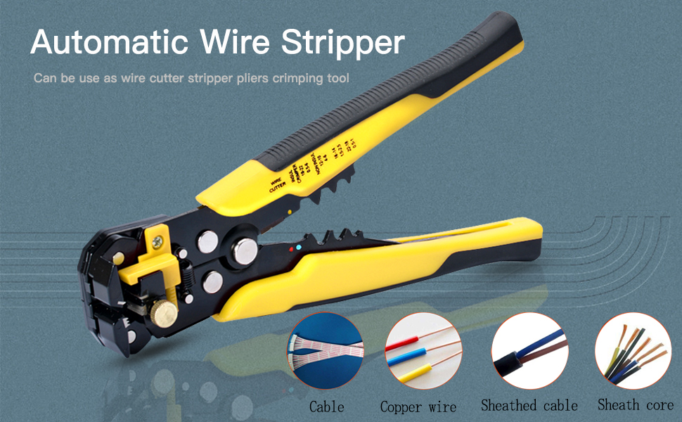 Wire Stripper, ZOTO Self-adjusting Cable Cutter Crimper, Automatic ...
