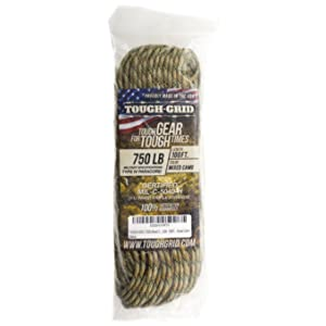 TOUGH-GRID 750lb Mil-Spec Type IV Parachute Cord Paracord Cordage Packaging 50 100 150 in Bags