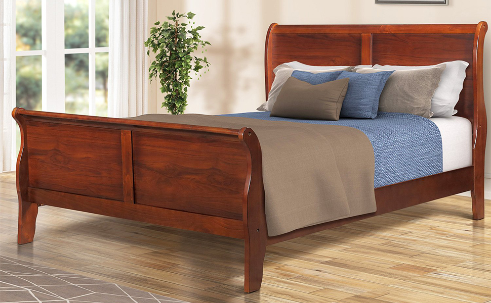 Amazon Com Sleigh Bed Frame Queen Size Julyfox