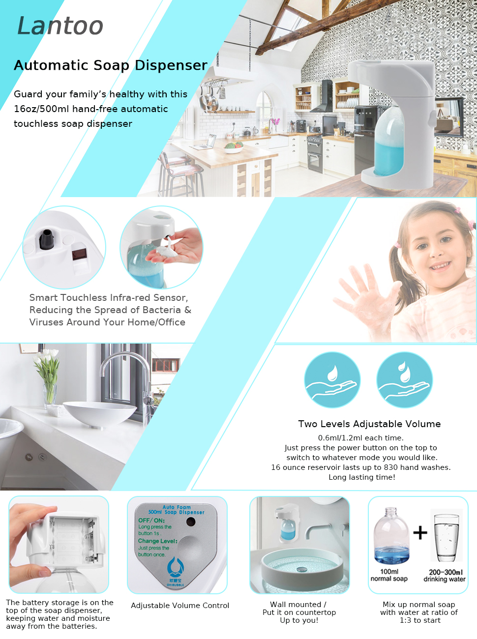 tired of traditional dispenser which needs to push out or pour out the liquid soap or hand sanitiser - Touchless Soap Dispenser