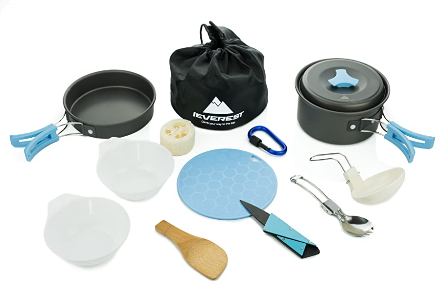 Amazon.com : IEVEREST - Ultimate 13pcs Camping Cookware