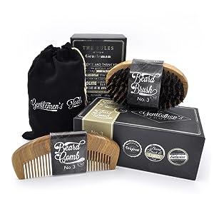beard comb brush set for men sandal wood comb 100 natural boar bristle. Black Bedroom Furniture Sets. Home Design Ideas