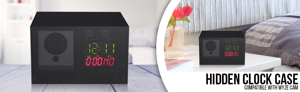 Hidden Clock Case for Wyze Cam - Perfectly Conceal Your Wyze Cam for  Improved Surveillance