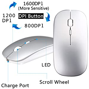 Color : Snow White XUNHANG Cool Bluetooth Mouse Leopard Print Snowflake Arrogant Rechargeable Game Mouse