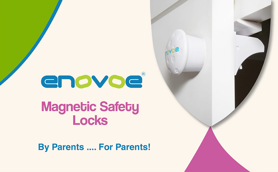Magnetic Cabinet Locks - 12 Locks + 2 Keys - Child Proof Cabinet Locks are  Easy to Install - No Drill, Tools Or Screws Needed - Childproof Baby Safety
