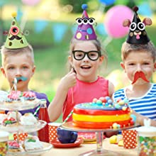 children party hats making craft diy monster animal