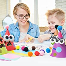 parent kids bonding time mother boy son hats making craft diy holiday activity kit