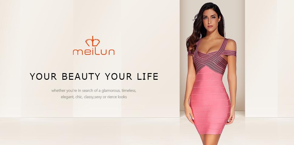 Amazon.com: Meilun Women's Rayon Strap V-neck Bandage ...
