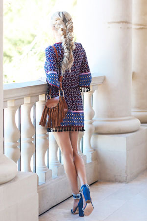 Made of super light polyester, wear this dress as is during the warm spring and summer months or add tights and booties to make this a year round staple.