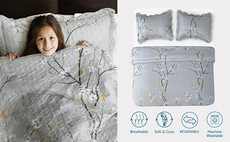 AESTHETIC FLORAL PATTERN,VERSATILE & LIGHTWEIGHT,PERFECT HOME DECORATION,and PREMIUM MICROFIBER MATERIAL