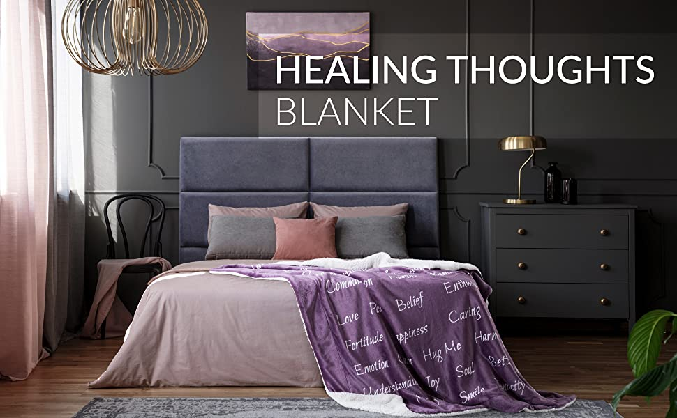 Bedsure Healing Thoughts Blanket
