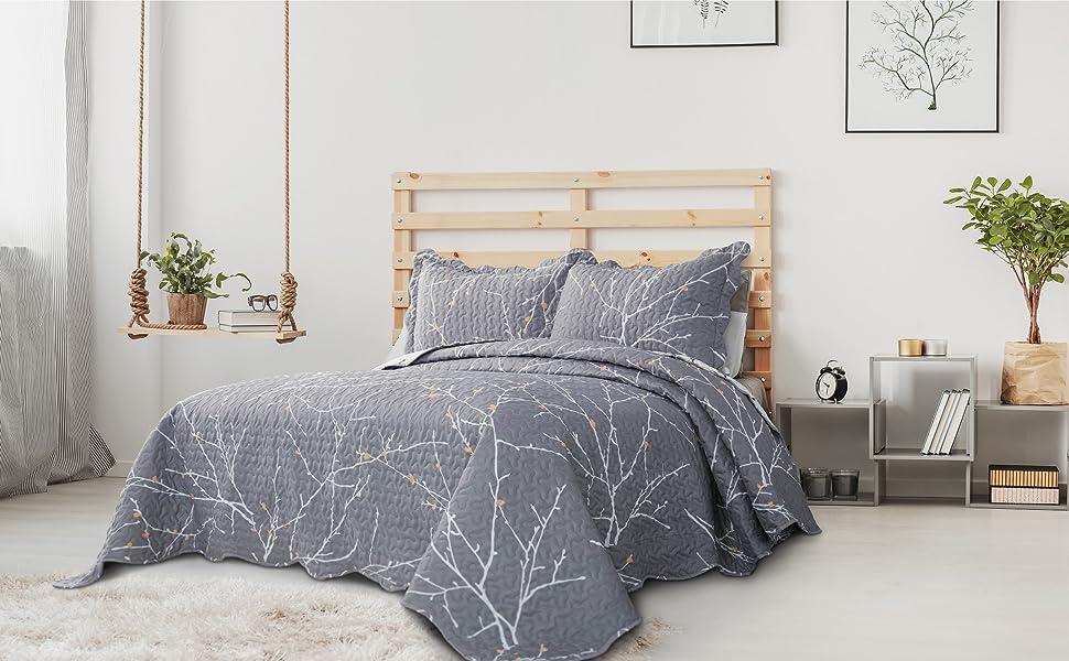Bedsure Printed Quilt Set