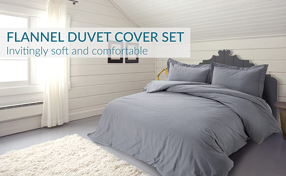 Flannel duvet cover set
