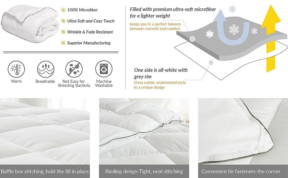 Lightweight Duvet Insert Summer Weight Duvet Insert 86 X