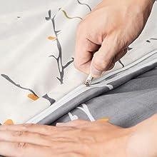 zipper comforter