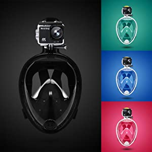 snorkel mask with mount