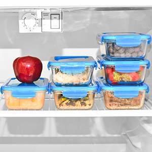 Glass Containers for Food Storage with Lids