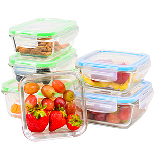 Glass Food Storage with lids