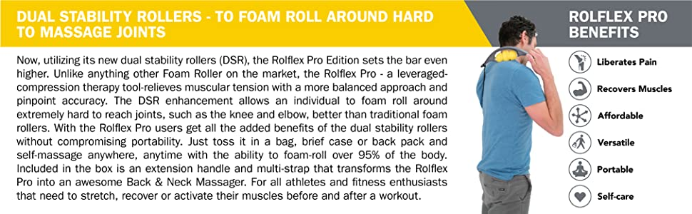 rolflex pro edition myofascial release trigger point therapy forearm massager