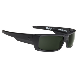 Spy Optics General Matte Black Wrap Polarized Sunglasses