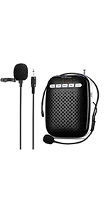 WB378 Voice Amplifier with  Lapel Microphone