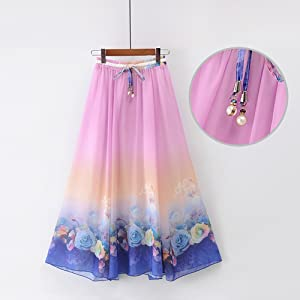 f60fa2eb1c Each girl really wants to have one of their own skirt, because it is the  best way to show the best styles of woman feminine features. Floral-printed  Maxi ...