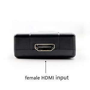 convert HDMI video signal to the component (male Y-Pb-Pr) signals and the FL/FR stereo audio signals