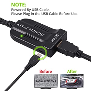 convert complete HDMI into male component YPbPr video and R/L audio output