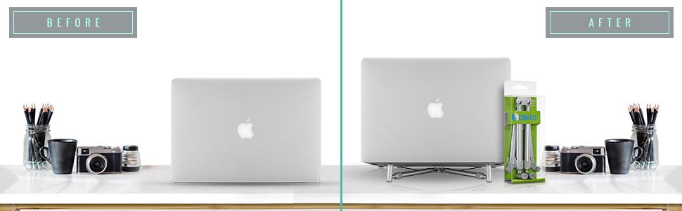 macbook stand for all desk laptops notebook silver rose gold Ergonomic design position comfort black