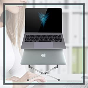 macbook stand space gray gaming laptop stand 17 inch black notebook Ventilated gaming stand 17 16 15
