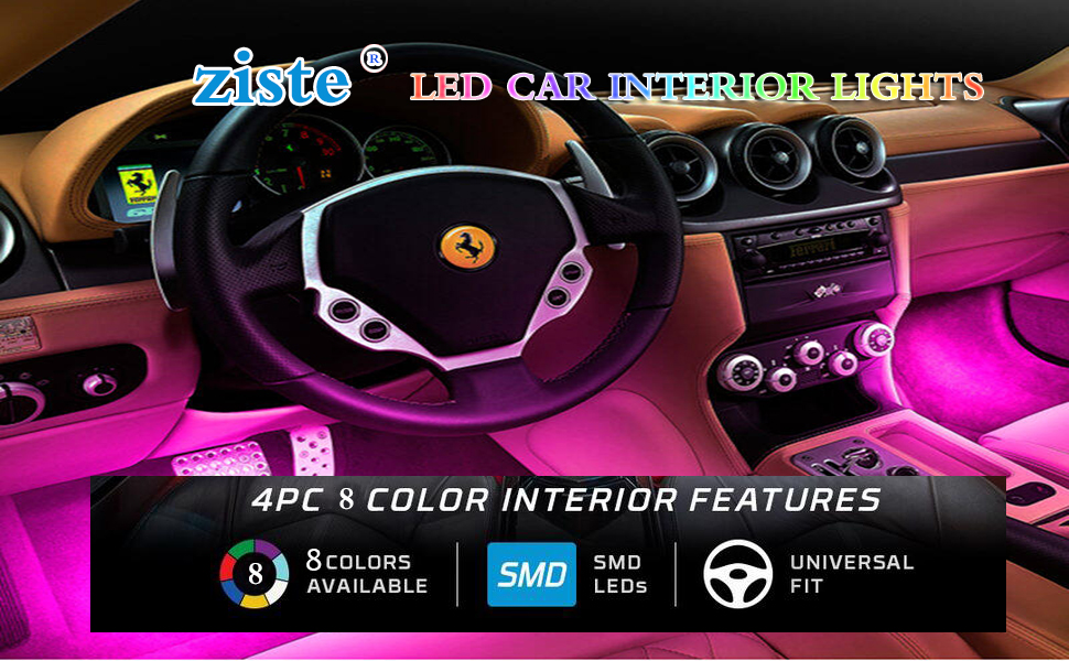 Enjoy Your Colorful Life, Just Start From ZISTE LED Car Interior Lights.