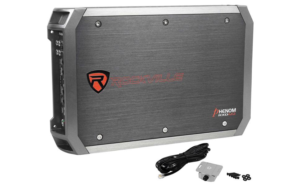 "Rockville 1500w Amplifier For 1 Rockford Fosgate Punch P3D4-12 12/"" Subwoofer"