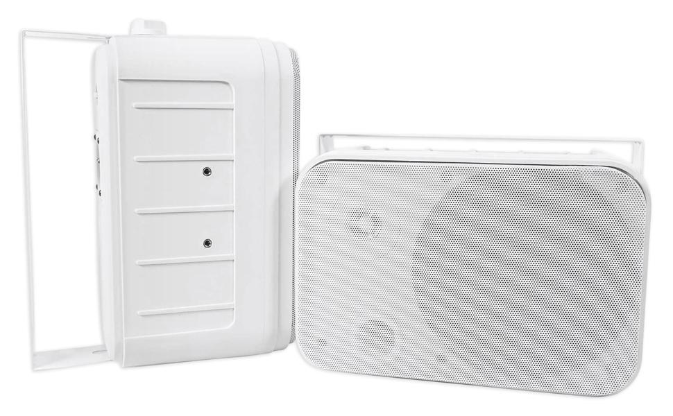 """2 Rockville HP65S-8 6.5/"""" Outdoor//Indoor Home Theater Speakers w//Swivel Bracket"""