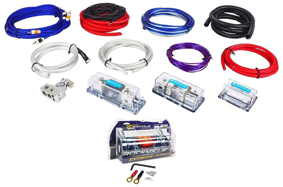 Amazon.com: Rockville RDA4+8K Dual 4/8 AWG Multi-Amp True Gauge Wire ...