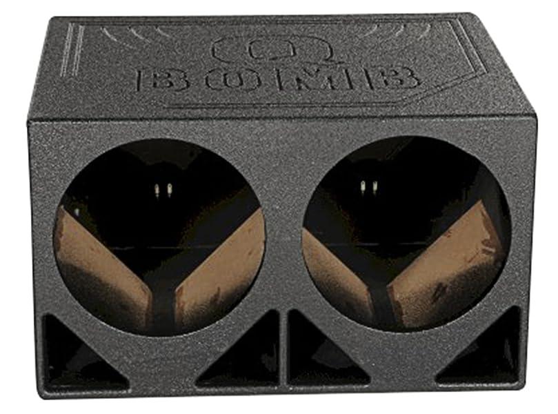 2 Pack Q Power QBOMB12TB Dual 12-Inch Triangle Ported Subwoofer Box Enclosure