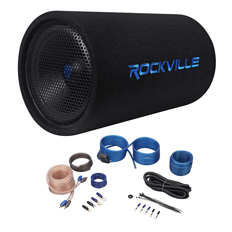 Rockville Rtb12a 12 600w Powered Subwoofer Bass Remote Jeep Wrangler Rear Wiring Tube Amp Kit