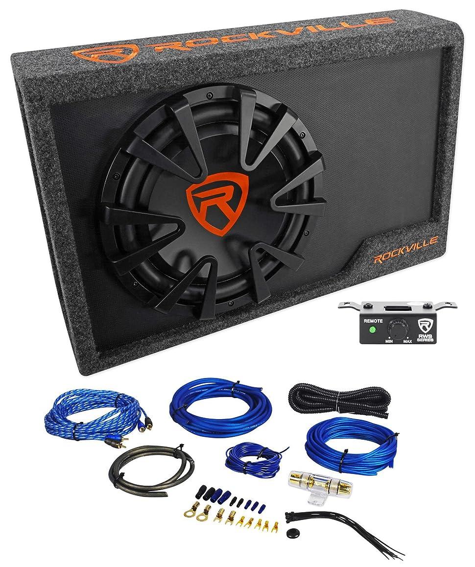 Rockville Rws12ca Slim 1200 Watt 12 Powered Car Home Subwoofer Wiring Enclosure Wire Kit