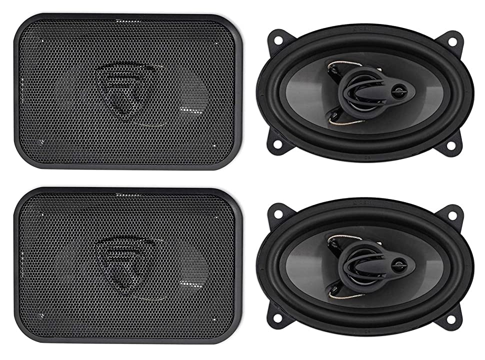 Amazon.com: (4) Rockville RV46.3A 4x6 3-Way Car Speakers ...