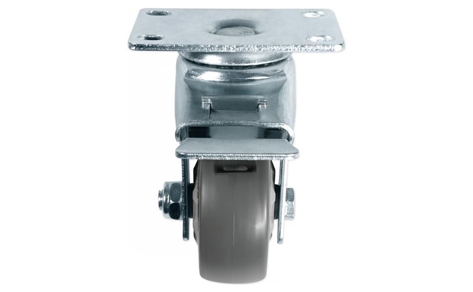 Rockville 3 Locking+Swivel Steel Caster Wheels For Electro-Voice EKX-18SP